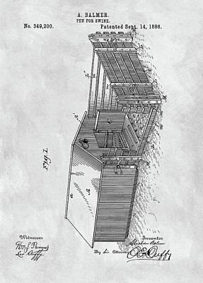 1886 Pigpen Patent Poster