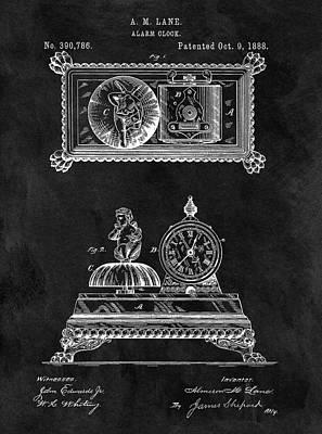 1888 Alarm Clock Poster by Dan Sproul