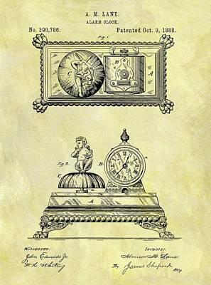 1888 Alarm Clock Patent Poster by Dan Sproul
