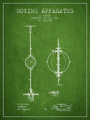 1890 Boxing Apparatus Patent Spbx17_pg Poster by Aged Pixel