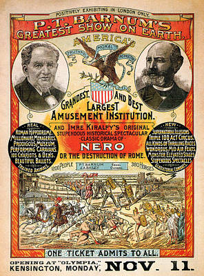 1890 - Circus Poster Poster