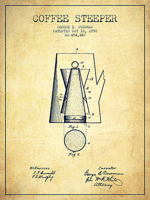 1892 Coffee Steeper Patent - Vintage Poster