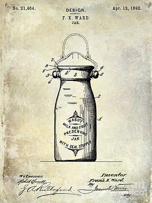 1892 Jar Patent  Poster by Jon Neidert