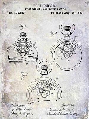1893 Pocket Watch Patent Poster by Jon Neidert