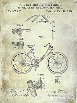 1896 Bicycle Patent Poster by Jon Neidert