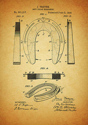 1896 Horseshoe Patent Poster by Dan Sproul