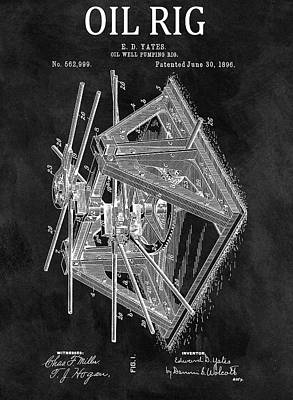 1896 Oil Rig Patent Poster