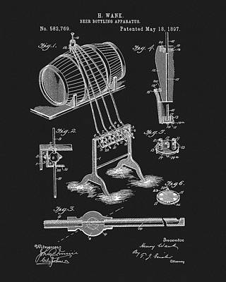 1897 Beer Bottling Apparatus Poster by Dan Sproul