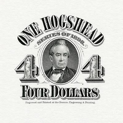 1898 Hogshead Beer Tax Stamp Poster