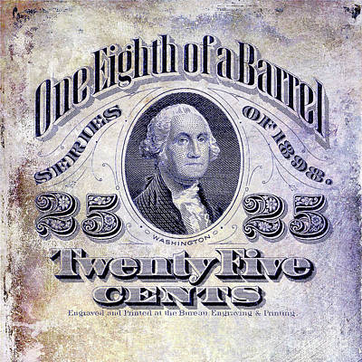 1898 One Eighth Beer Barrel Tax Stamp Poster