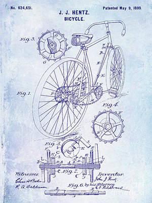 1899 Bicycle Patent Blueprint Poster by Jon Neidert