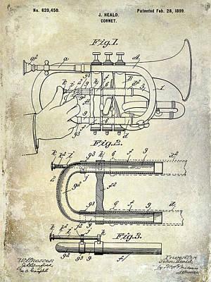 1899 Cornet Patent Poster by Jon Neidert