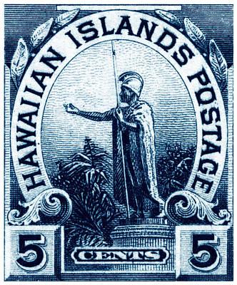 1899 Statue Of Kamehameha Stamp Poster