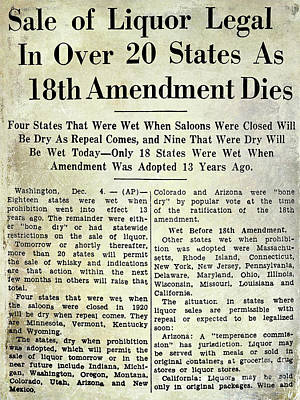 18th Amendment Article Poster