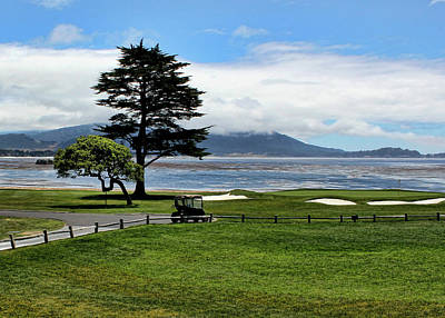 18th At Pebble Beach Horizontal Poster