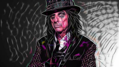 Alice Cooper Collection Poster by Marvin Blaine