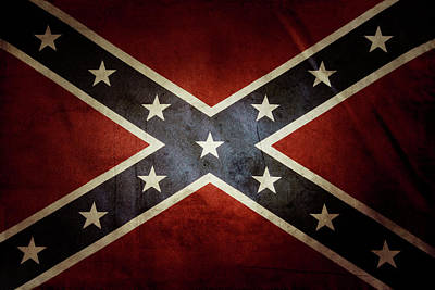 Confederate Flag Poster by Les Cunliffe