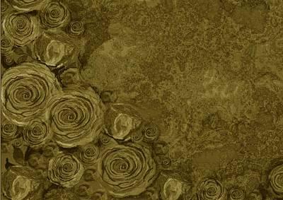 Roses Poster by Sandrine Kespi