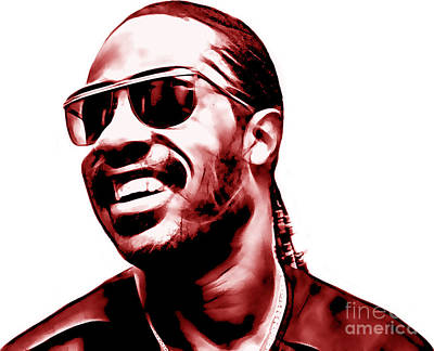 Stevie Wonder Collection Poster by Marvin Blaine