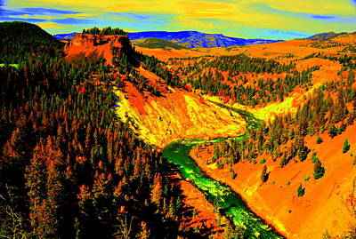 Yellowstone Park Poster by Aron Chervin