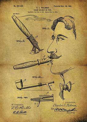 1901 Cigar Holder Patent Poster by Dan Sproul