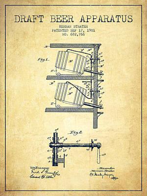 1901 Draft Beer Apparatus - Vintage Poster by Aged Pixel