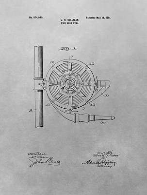 1901 Fire Hose Patent Poster