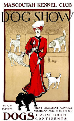 1901 Mascoutah Dog Show Poster