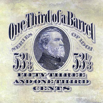 1901 One Third Beer Barrel Tax Stamp Poster by Jon Neidert