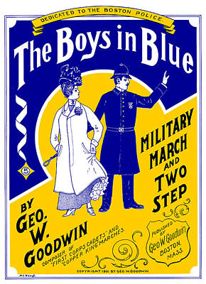 1901 The Boys In Blue, The Boston Police Poster by Historic Image