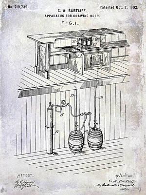 1902 Beer Draft Patent Poster by Jon Neidert