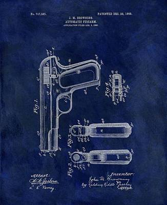 1903 Automatic Firearm Patent Poster by Dan Sproul