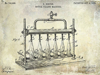 1903 Bottle Filling Patent Poster by Jon Neidert