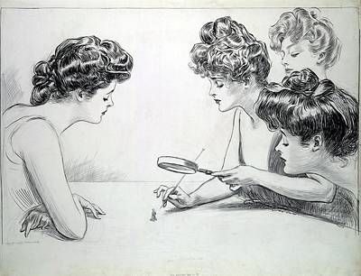 1903 Drawing By Charles Dana Gibson Poster