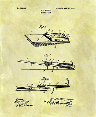1903 Mouse Trap Patent Poster