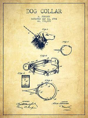 1904 Dog Collar Patent - Vintage Poster