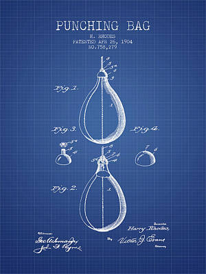 1904 Punching Bag Patent Spbx12_bp Poster by Aged Pixel