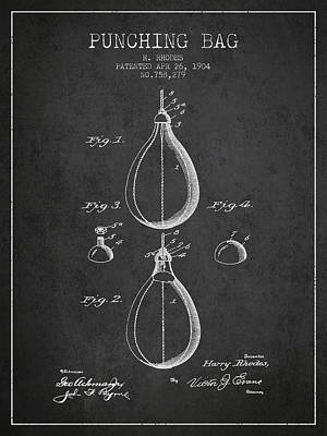 1904 Punching Bag Patent Spbx12_cg Poster by Aged Pixel
