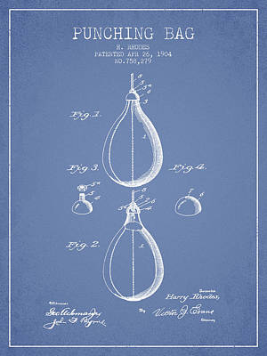 1904 Punching Bag Patent Spbx12_lb Poster by Aged Pixel