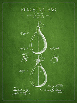 1904 Punching Bag Patent Spbx12_pg Poster by Aged Pixel