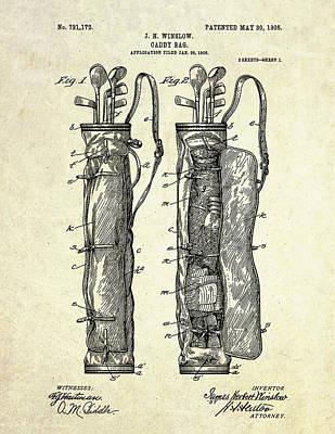 1905 Caddy Bag Patent Art S.1 Poster