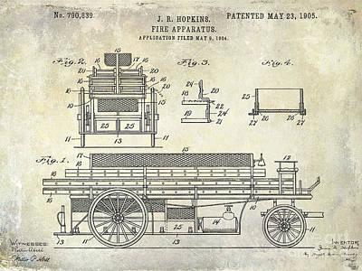 1905 Fire Apparatus Poster by Jon Neidert