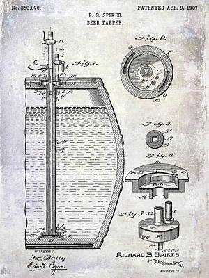 1907 Beer Tapper Patent Poster