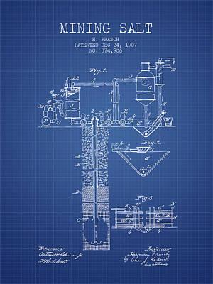 1907 Mining Salt Patent En36_bp Poster by Aged Pixel