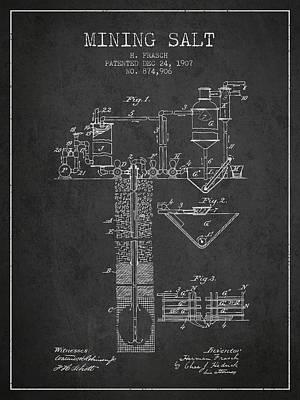 1907 Mining Salt Patent En36_cg Poster by Aged Pixel