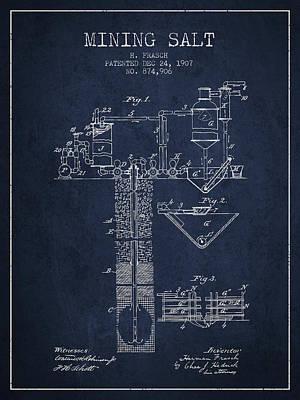 1907 Mining Salt Patent En36_nb Poster by Aged Pixel