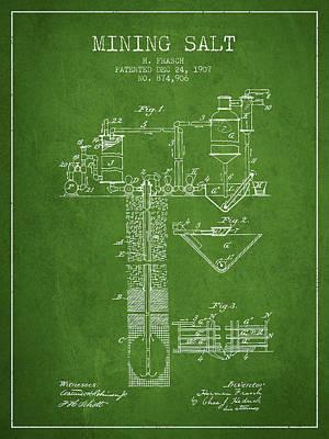 1907 Mining Salt Patent En36_pg Poster by Aged Pixel
