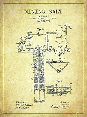 1907 Mining Salt Patent En36_vn Poster by Aged Pixel