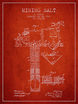 1907 Mining Salt Patent En36_vr Poster by Aged Pixel