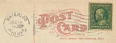 1909 Postcard Poster by Greg Joens